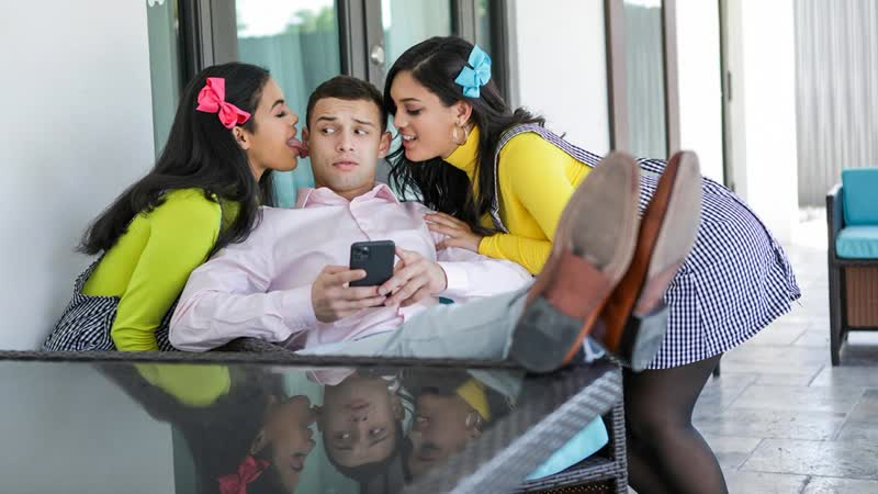 Maya Farrell, Alina Belle - My Stepsisters Fucked Me To Get Into The Club - Threesome Sex Big Natural Tits Juicy Ass Latina Porn