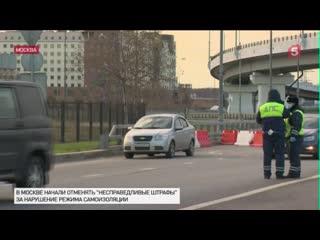 Более 500 штрафов за нарушение самоизоляции аннулировано в Москве
