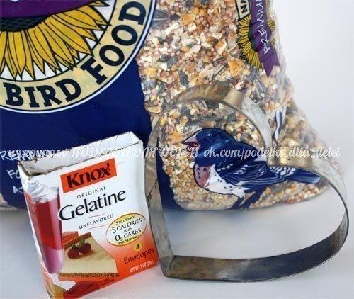 Кормушка для птичек Предлагаю Тебе немножко побыть волшебником и превратить обычный корм для птиц на симпатичную кормушку. Как это сделать Читай дальше и убедишься чудеса творить легко и