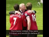 One of classic ManUtd comebacks
