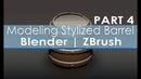 Modeling Stylized Barrel - Blender | ZBrush - Part 4