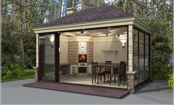 Как построить летнюю кухню на даче  не допуская ошибок