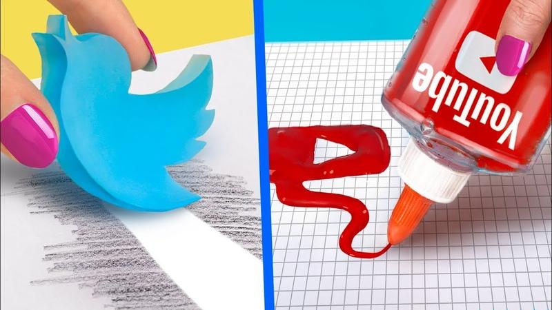 Необычная канцелярия в виде социальных сетей 10 идей