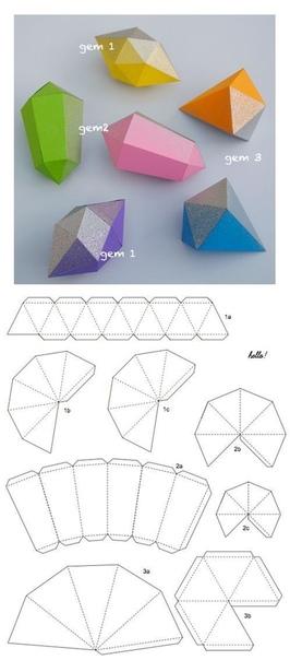 ОБЪЕМНЫЕ ГЕОМЕТРИЧЕСКИЕ ФИГУРЫ из бумаги. Шаблоны полезных поделок для обучения детей геометрическим