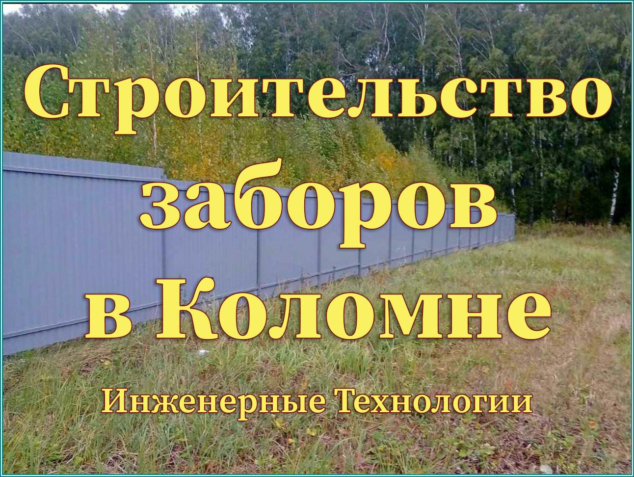 Забор Коломна: Строительство заборов любой сложности от 300р/ м. пог. в Коломне