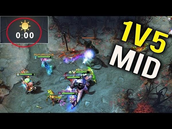 0 MIN ALL MID PUSH Crazy Strat vs Waga 1v5 Mid Magic Burst Epic Fail Dota 2