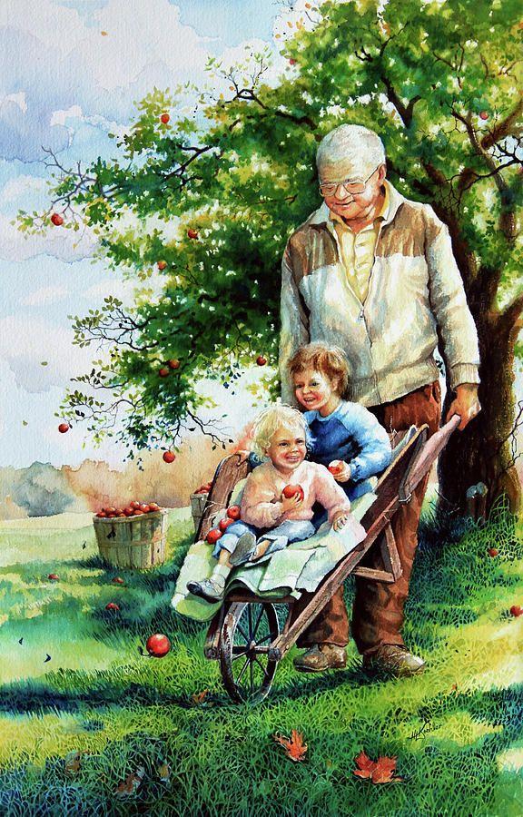 Картинки о бабушках и дедушках