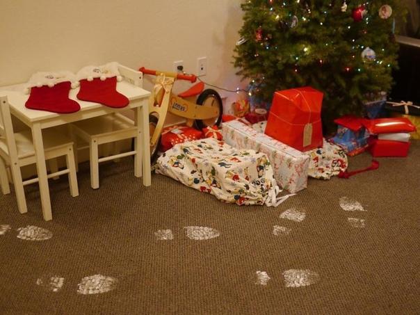 Обязательнo сделайте следы Деда Мороза Детишки будут счастливы