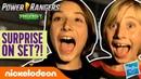 Gabe Garrett's Mysterious Surprise On Set! | Power Rangers Beast-X Morphers Ep. 1 | Nick