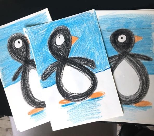 Простой способ нарисовать забавного пингвина. Просто и оригинально. То что надо для детей.