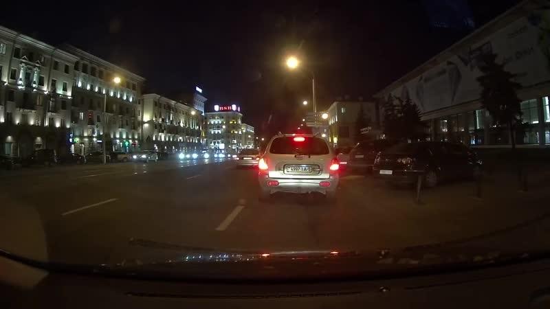 ДТП с мотоциклистом в Минске попало в объектив регистратора