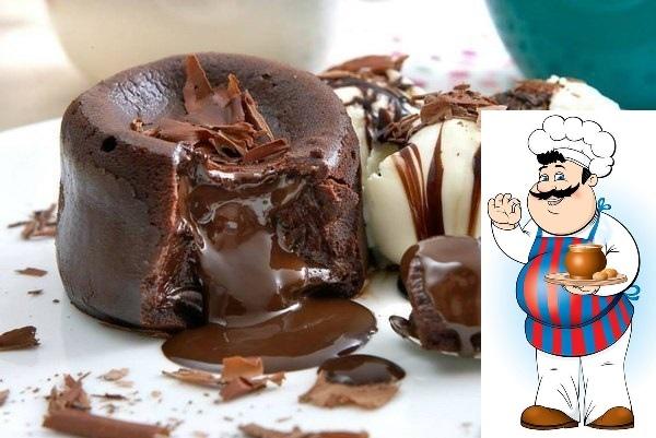 Влажные шоколадные кексы с жидкой начинкой