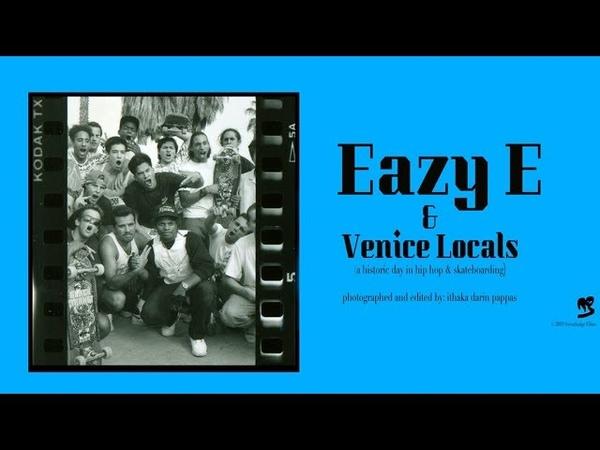 Eazy E skates w/OG Venice Locals in Bullet-Proof Vest 2/24/89 HISTORIC - Fotos: Ithaka Darin Pappas