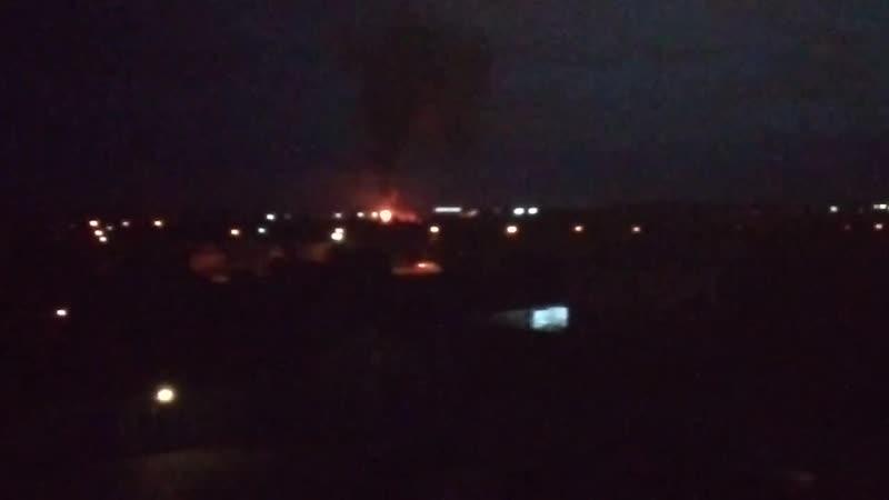 Пожар в Лопатках