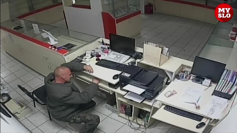 Вор неудачник в Ефремове пытался обокрасть ювелирный магазин