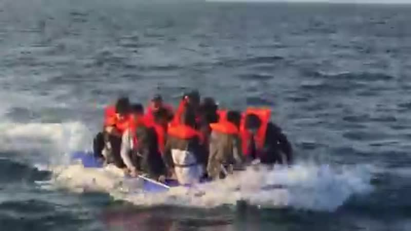Boat 1 The people on board this boat say they are from Syria @BBCBreakfast