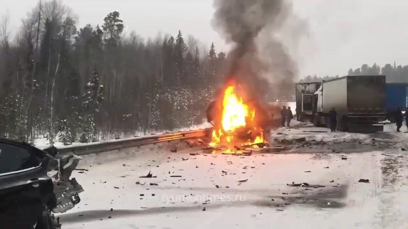 ДТП, сгорела Газель вместе с водителем, Куть-Ях Нефтеюганск 05.12.2019