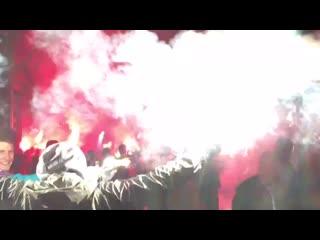 Огненная встреча Локо на стадионе   #ЛокоАтлетико #ЛигаЧемпионов