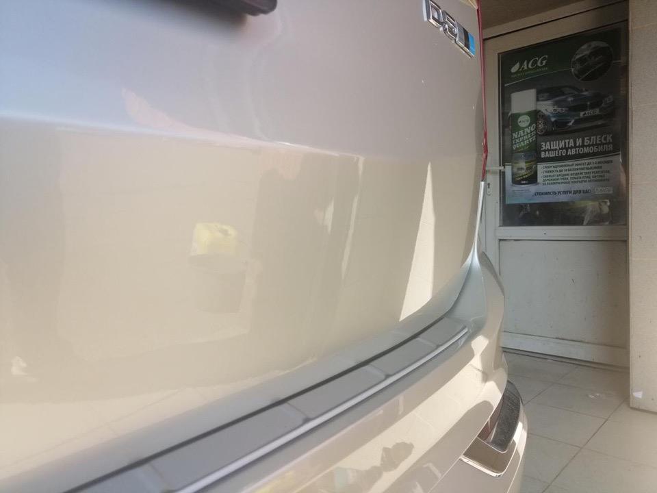 Устранение царапины на Volvo