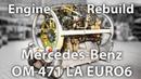 LKW Motor Reparatur Mercedes Benz Actros OM471LA in Stop Motion