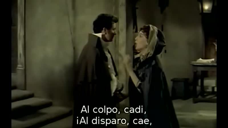 Franco Corelli Franca Duval Acto 3 de Tosca de Puccini Orquesta de la Ópera de Roma Oliverio de Fabritiis Gallone 1956