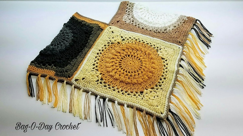 How To Crochet A Childs Poncho The Galaxy Gal Poncho Age 8 12 BAG O DAY Crochet Tutorial 454