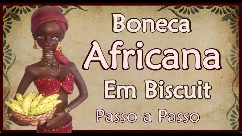 Africana de biscuit feita com frasco de shampoo