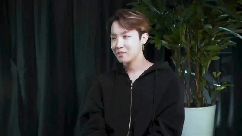 Hobi It would be nice if they think of me as someone special, like We cant do without him.