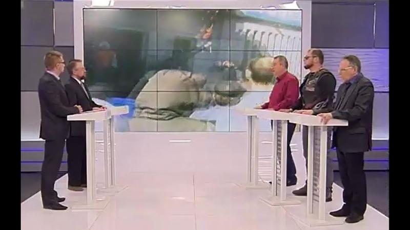 Юрий Юров Виталий Кишкинов и Олег Коваль в телепередаче Голос Республики 10 04 2020