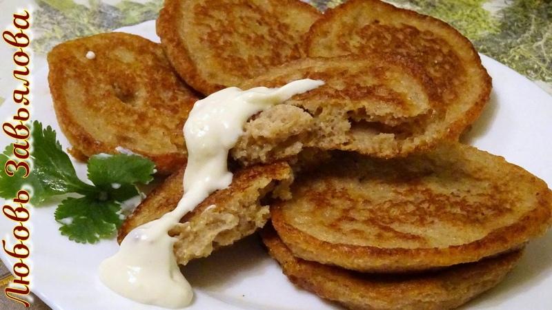 Оладушки гречишно-ржаные на ряженкеМасленица2020/Buckwheat pancakes on ryazhenka