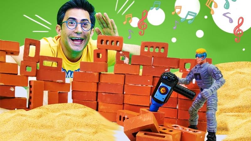 Eğitici Lego videosu. İnşaat oyunu. Şantiyeyi güvenli duruma getiriyoruz