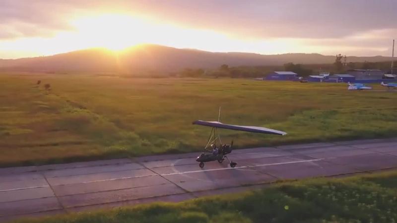 Primorsky Krai, Novonezhino_ Flying at sunset