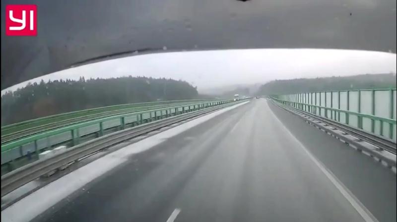 Гололед в Чехии
