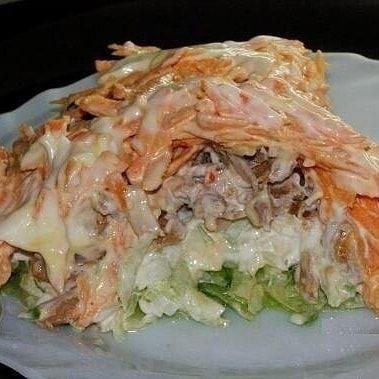 Вкусный салат с зелёной редькой