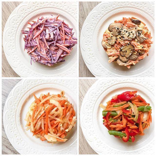 Подборка салатов из моркови
