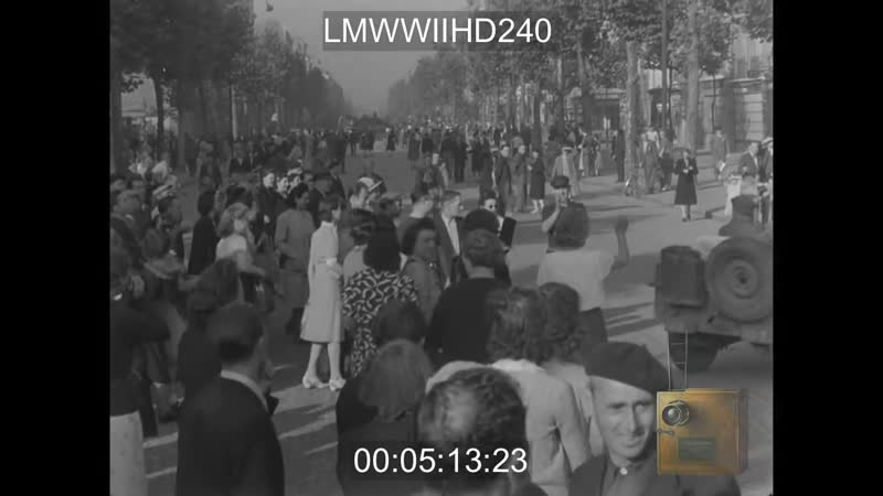 Дойче Вохеншау 1944 американцы в Версале и Париже