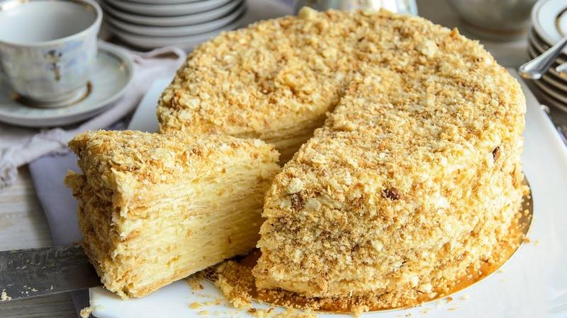 Торт НАПОЛЕОН классический рецепт с Заварным Кремом🍴Простой рецепт ИДЕАЛЬНО НЕЖНЫЙ торт