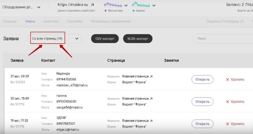 19 лидов по 187 рублей для поставщика оборудования по производству пончиков., изображение №12