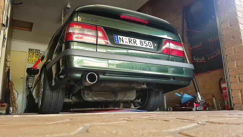 Volvo 850R 3 downpipe straight pipe exhaust cold start