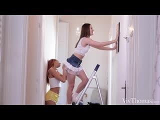 Та самая | Домашнее Русское Порно Инцест Alya Stark+ Veronica Leal - нежные лесбияночки развлекаются после рабочего дня [порно