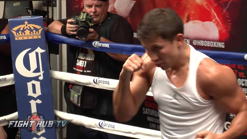 Gennady Golovkin vs David Lemieux full video Golovkin shadow boxing workout video