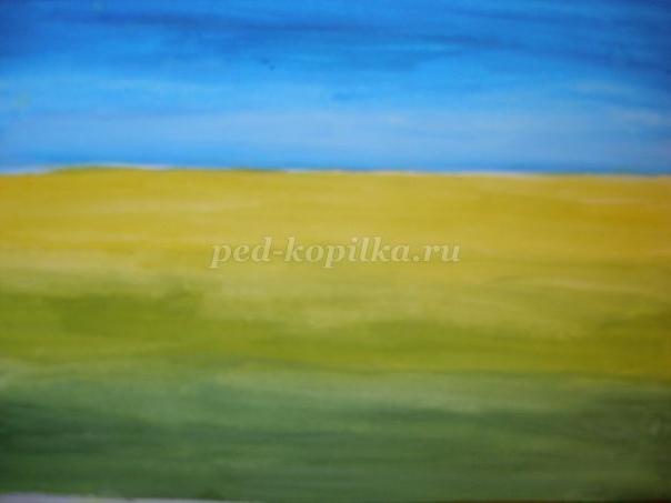 Рисуем гуашью летний пейзаж Автор: Косова Татьяна Юрьевна