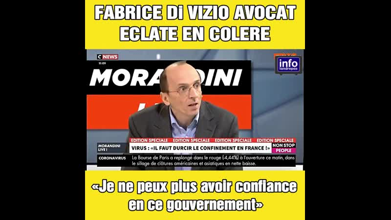 L'Avocat des Profs de Santé Fabrice Di Vizio éclate en colère