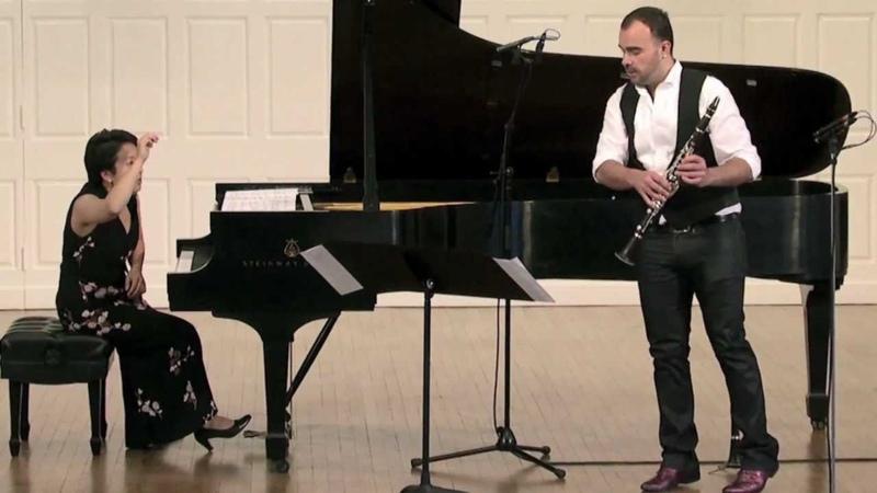 Fünf Bruchstücke (Ashley Smith - clarinet, Aura Go - piano, Jörg Widmann - composer)