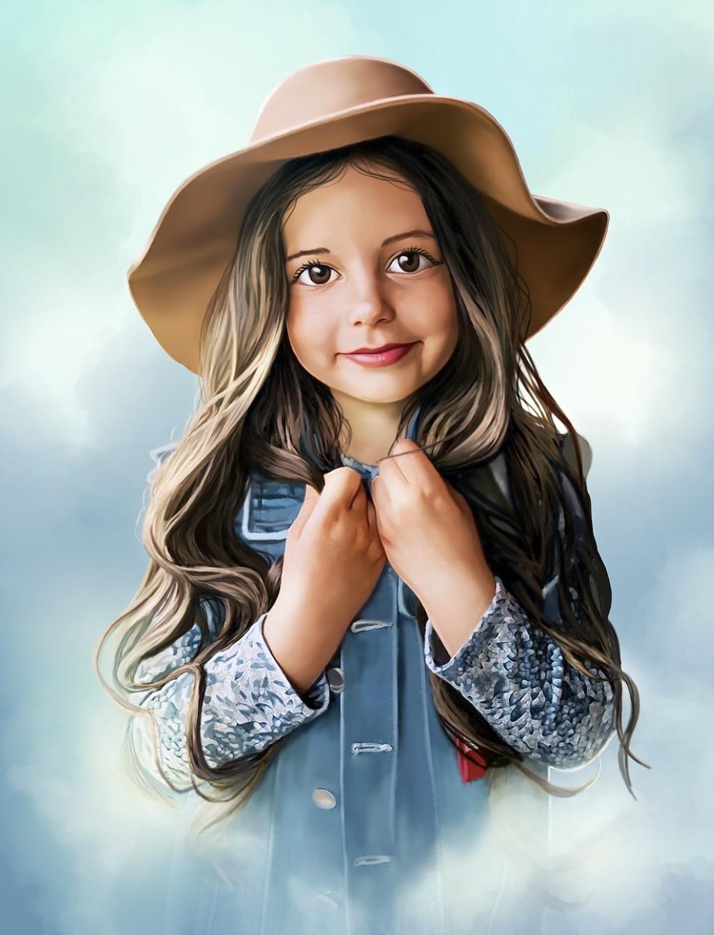 Фото: Российская художница превращает детские фотографии в очаровательные мультяшные портреты