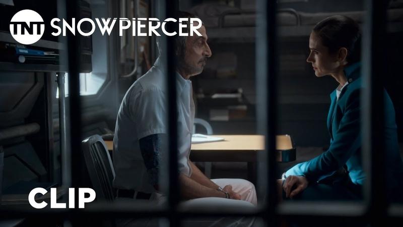 Snowpiercer Melanie Interrogates Terence on Her Missing Prisoner Season 1 Episode 7 Clip TNT