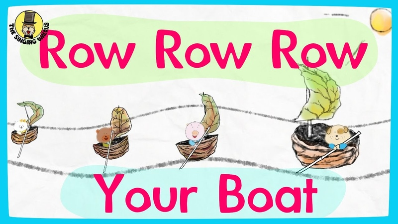 Row row row your boat video Nursery rhymes for kids