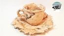 Jak zrobić dekoracyjną filiżankę z brzozowej kory [BIRCH BARK DECOR CUP] - Pomysły plastyczne DiY