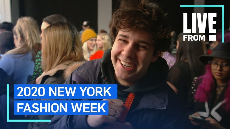 David Dobrik Survives His First New York Fashion Week Show NYFW E Red Carpet Award Shows