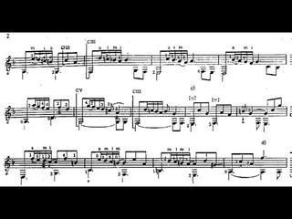 David Kellner - Phantasia in D minor for Guitar (Score video)